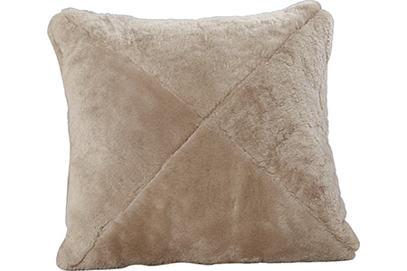 Shearling Dusty Beige Mitered Pillow