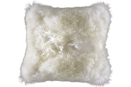 Angora Snow Mitered Pillow