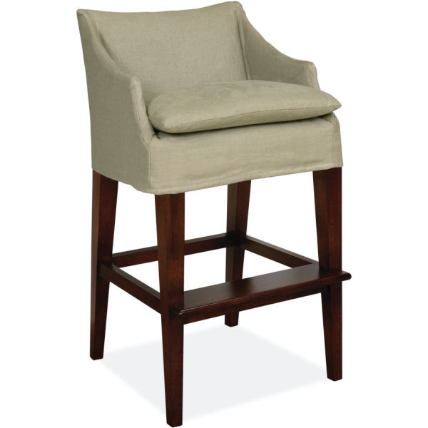 C5203 52 Slipcovered Campaign Bar Stool At Lee Industries