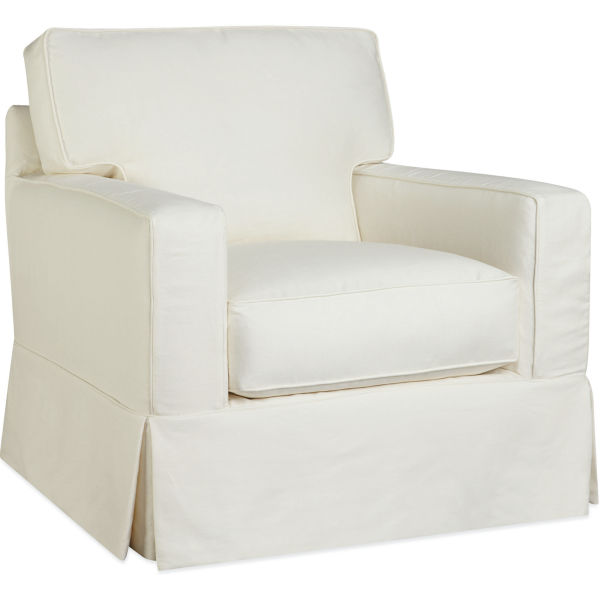 C5287 01sw Slipcovered Swivel Chair At Lee Industries
