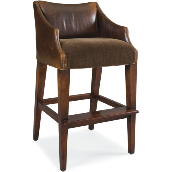 L5206 52 Leather Campaign Bar Stool At Lee Industries