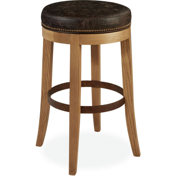L5973 52sw Leather Swivel Bar Stool At Lee Industries