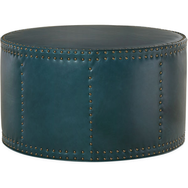 L9203 90 Leather Drum Ottoman At Lee Industries