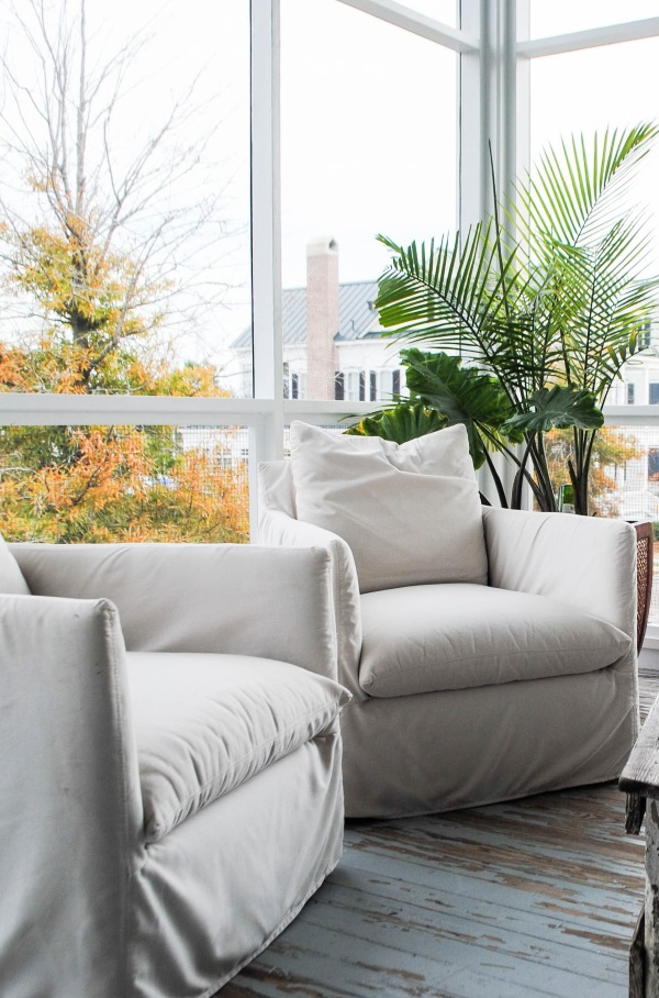 When Storing Slipcovers, Place In A Cool, Dry Area, Out Of Direct Light.  Prior To Storage, Wrap In A Light Weight White Sheet Or Muslin Cover To  Help Air ...